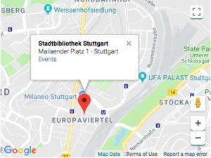 June 9 workshop at a new location – Stadtbibliothek Stuttgart