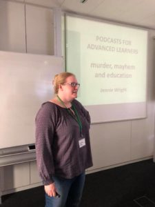 Great workshop from Jennie Wright on using podcasts in ELT